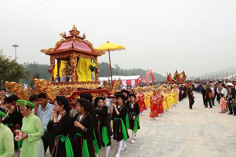 Đậm đà bản sắc dân tộc tại Lễ khai Hội xuân Tây Thiên 2016