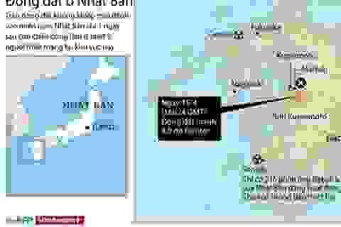 [Infographics] Tâm trận động đất Nhật Bản ở gần các nhà máy hạt nhân