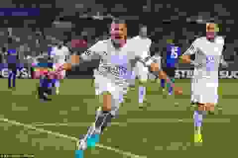 Leicester thắng đẹp ở trận đầu tiên chơi tại Champions League