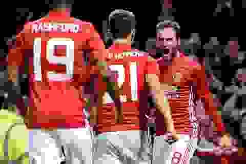 """MU 1-0 Man City: Mata đưa """"Quỷ đỏ"""" vào tứ kết"""