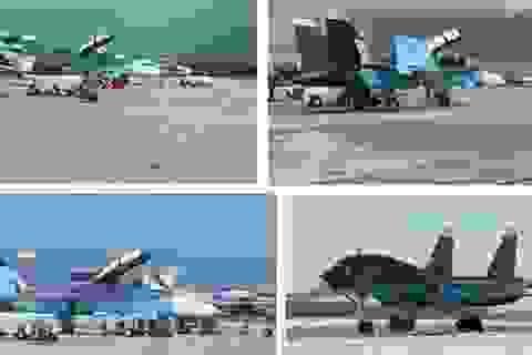 """Xôn xao chuyện Mỹ """"nhái"""" màu sơn của chiến đấu cơ Nga ở Syria"""