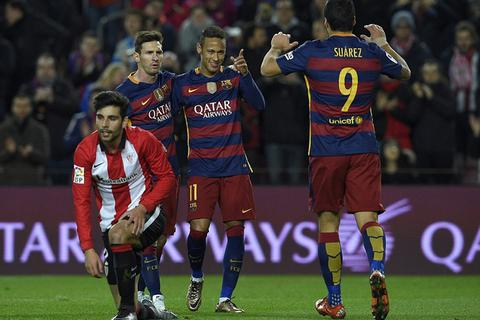 Bale-Benzema-Ronaldo và Messi-Neymar-Suarez cùng ghi bàn 1 ngày