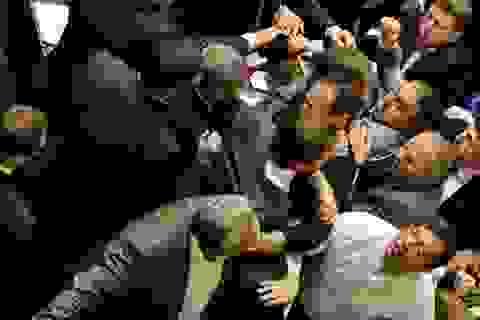 Nghị sĩ Ukraine đánh chửi nhau như ngoài chợ