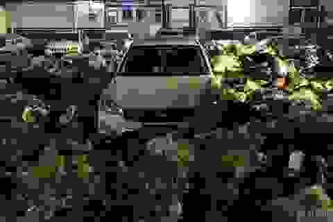 Vội đi nhậu, quay về thấy xe ngập trong… 10 tấn rác