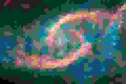 """Các thiên hà va chạm tạo ra cảnh quan tuyệt đẹp """"đôi mắt trong không gian"""""""
