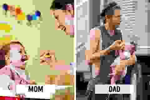 Hài hước sự khác biệt giữa bố và mẹ