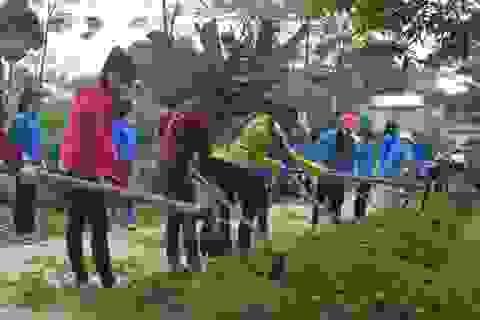 Mùa Hè xanh giàu ý nghĩa của SV tình nguyện ĐH Nông Lâm Thái Nguyên