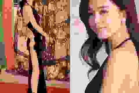 """Mỹ nhân Hồng Kông gây sốc khi mặc váy hở bạo, quên """"nội y"""" tại lễ trao giải điện ảnh"""