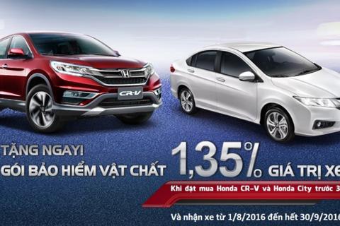 Chương trình tri ân khách hàng mua xe Honda CR-V và Honda City
