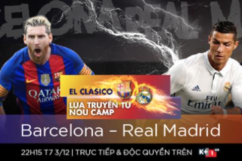 Siêu kinh điển Barcelona-Real Madrid: Nou Camp sẽ đón mưa bàn thắng?