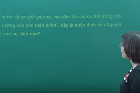 Video bài giảng môn Lịch sử: Những hoạt động của Nguyễn Ái Quốc từ năm 1919 - 1930