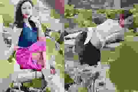 """Thiếu nữ Hà thành """"lăn lê bò toài"""" chụp ảnh cùng sen"""