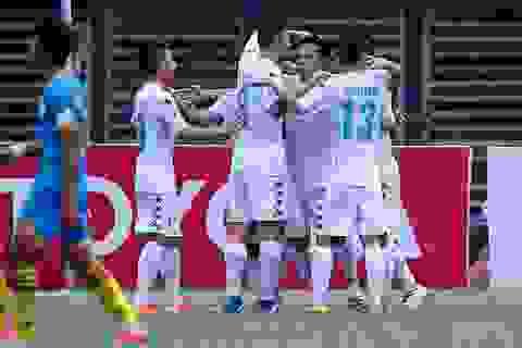 Thắng nhẹ Khánh Hòa, Hà Nội T&T lên ngôi đầu V-League