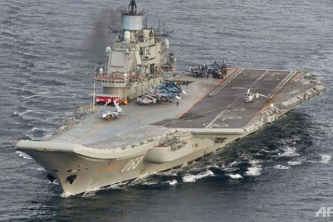 Tàu sân bay Nga lần đầu tấn công IS ở Syria