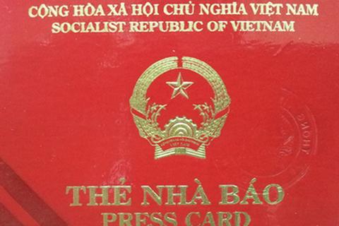 Gia hạn Thẻ nhà báo giai đoạn 2011-2015 đến hết tháng 3/2016