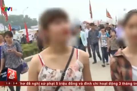 Clip thời trang sexy của thiếu nữ dự lễ hội Đền Hùng
