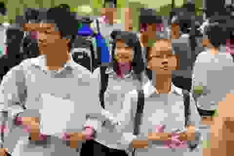 Trường THPT khoa học giáo dục  tuyển sinh bằng hình thức trắc nghiệm
