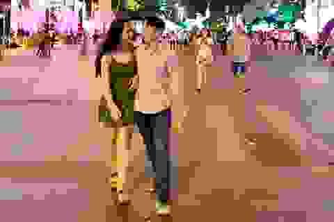 Không gian đêm Valentine lãng mạn tại Sài Gòn