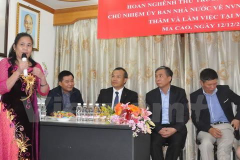 Bảo đảm tốt hơn quyền lợi của người Việt Nam tại Macau