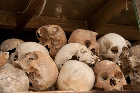 Tìm thấy hơn 250 đầu lâu trong hầm mộ bí mật ở Mexico