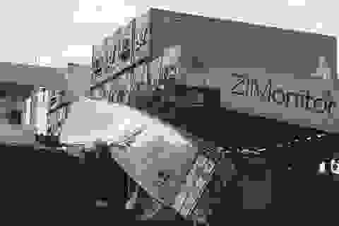 Hiện trường vụ tàu container nước ngoài bị tông trên sông Đồng Nai