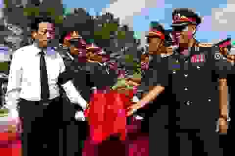 An táng 104 hài cốt quân tình nguyện, chuyên gia Việt Nam hy sinh tại Lào