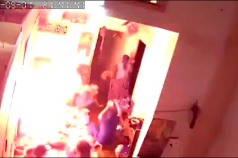 Bình gas mini phát nổ khi cả gia đình quây quần ăn lẩu