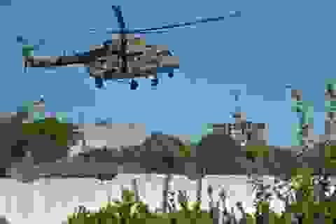 Trực thăng Nga yểm trợ quân đội Syria tấn công IS ở Palmyra