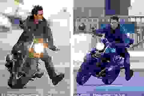 Tom Cruise lái mô-tô rượt đuổi trên đường phố Paris