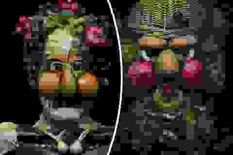 Sửng sốt trước tranh chân dung tạo thành từ… rau củ