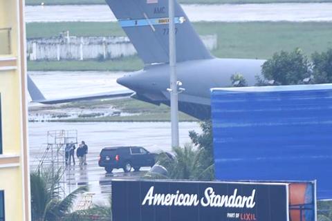 C17 liên tiếp hạ cánh, đoàn xe của Tổng thống Mỹ có mặt tại Đà Nẵng