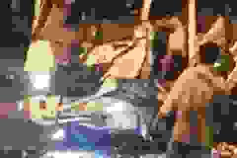 Người dân và CSGT phối hợp cứu tài xế mắc kẹt trong cabin