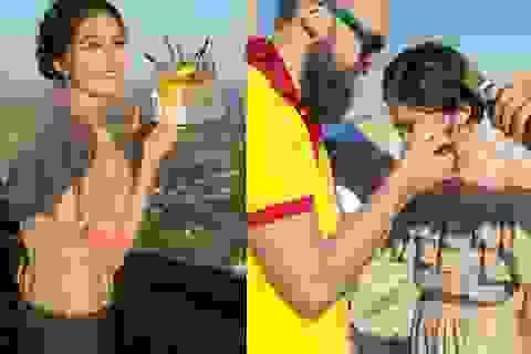 Á hậu Thuỳ Dung đón sinh nhật bất ngờ trên độ cao 300m