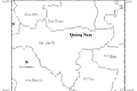 Hai trận động đất mạnh liên tiếp ở huyện miền núi Quảng Nam