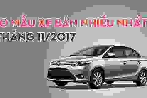 Top 10 mẫu xe bán nhiều tháng 11/2017