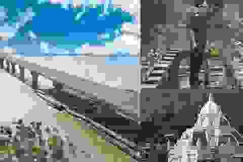 """Biệt thự kiểu châu Âu và """"lỗi"""" trên cây cầu vượt biển dài nhất Việt Nam"""