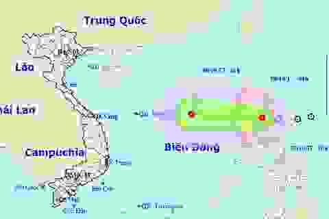 Áp thấp nhiệt đới tiếp tục hướng vào Biển Đông