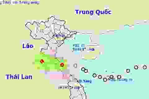 Áp thấp nhiệt đới vào đất liền, nhiều nơi mưa to