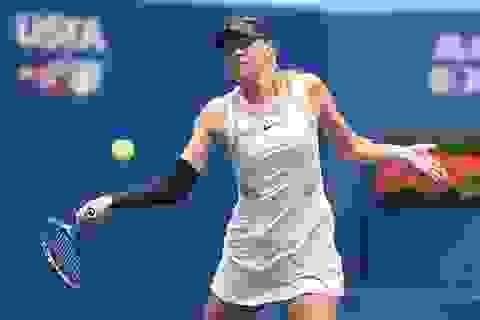 """""""Búp bê"""" Sharapova dừng bước trước ngưỡng cửa tứ kết"""
