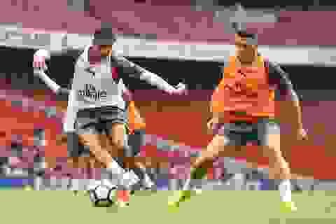 Sanchez trở lại luyện tập cùng Arsenal chuẩn bị đá Siêu cúp Anh