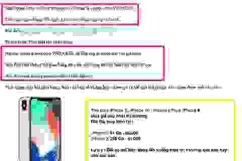 Nhiều cửa hàng chào bán iPhone X giá 40 triệu đồng, nhận hàng 3/11