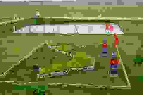 Quảng Bình: Thú vị với mô hình biển đảo trong sân trường