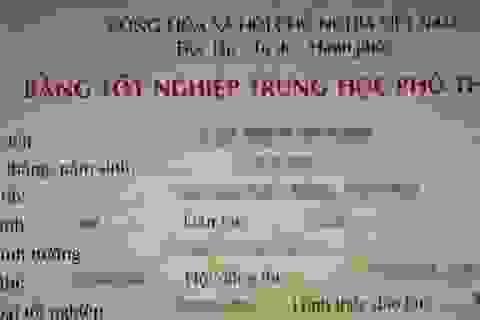 Lào Cai: Buộc thôi việc một giáo viên dùng bằng tốt nghiệp THPT của người khác
