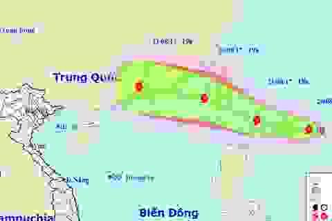 Xuất hiện bão mạnh cấp 8 gần Biển Đông