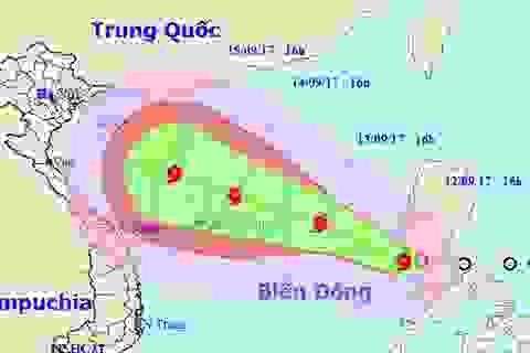 Bão số 10 đang hướng vào đất liền Việt Nam