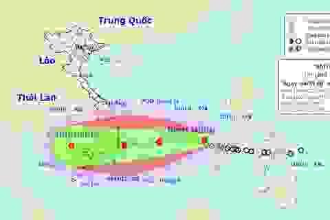 Bão số 12 đang hướng vào khu vực Nam Trung Bộ