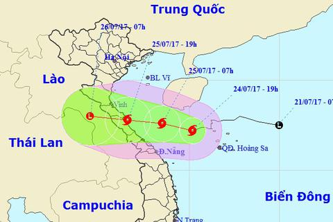 Tối mai bão số 4 đổ bộ vào Nghệ An - Quảng Trị