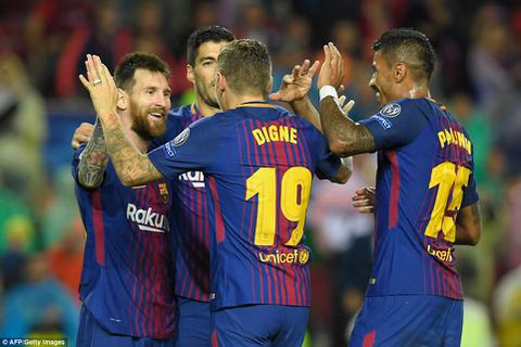 Messi lập công, Barcelona toàn thắng tại Champions League
