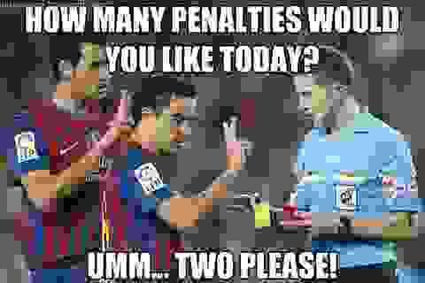 Biếm họa chiến thắng thần thánh của Barcelona trước PSG