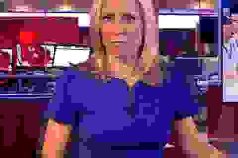 """Hy hữu cảnh """"nóng"""" xuất hiện trong bản tin thời sự của BBC"""